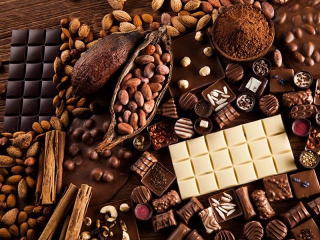 خامات لصناعة الشيكولاتة